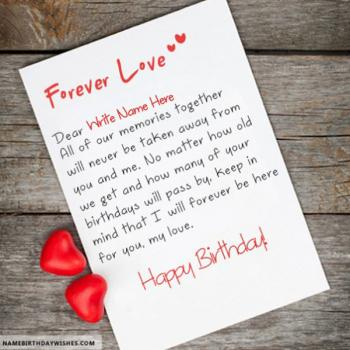 Happy Birthday Wishes For Love With Name