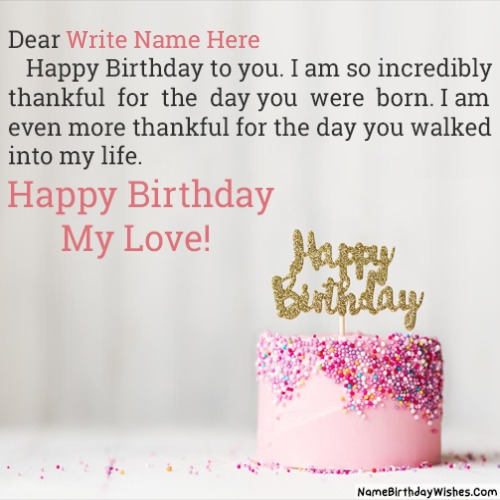 Write Name On Birthday Wishes With Photo