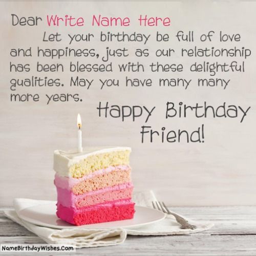 Write Name On Happy Birthday Images For Him